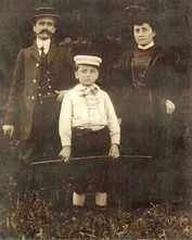 Photo d'Emile Forain et de son jeune fils, Fernand