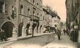 Photo de la rue du pâquier, début du 20°