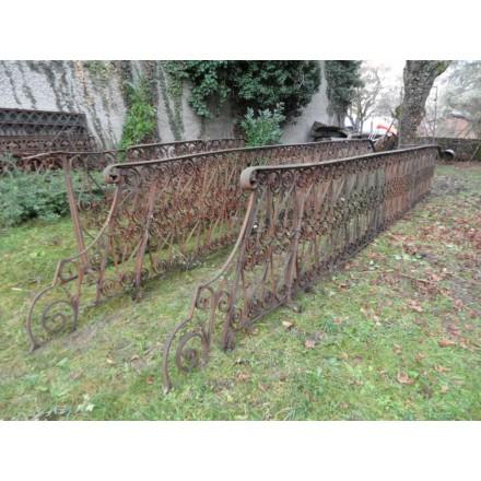 Rampe d 39 escalier en fer forg maison forain - Rampe escalier fer forge ...