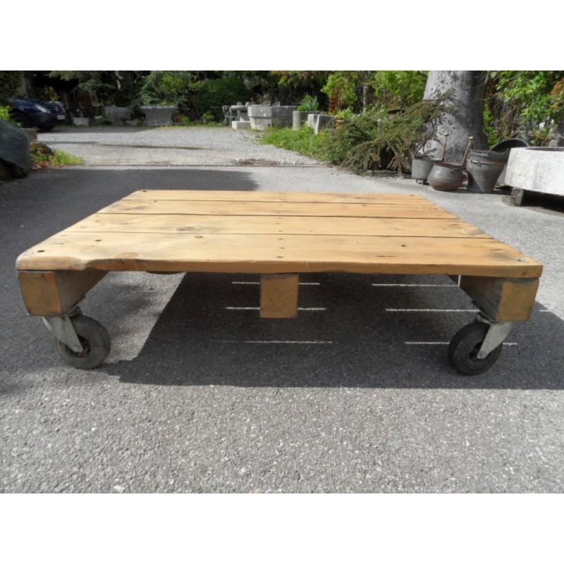Table basse de style industriel maison forain - Table basse style industriel ...