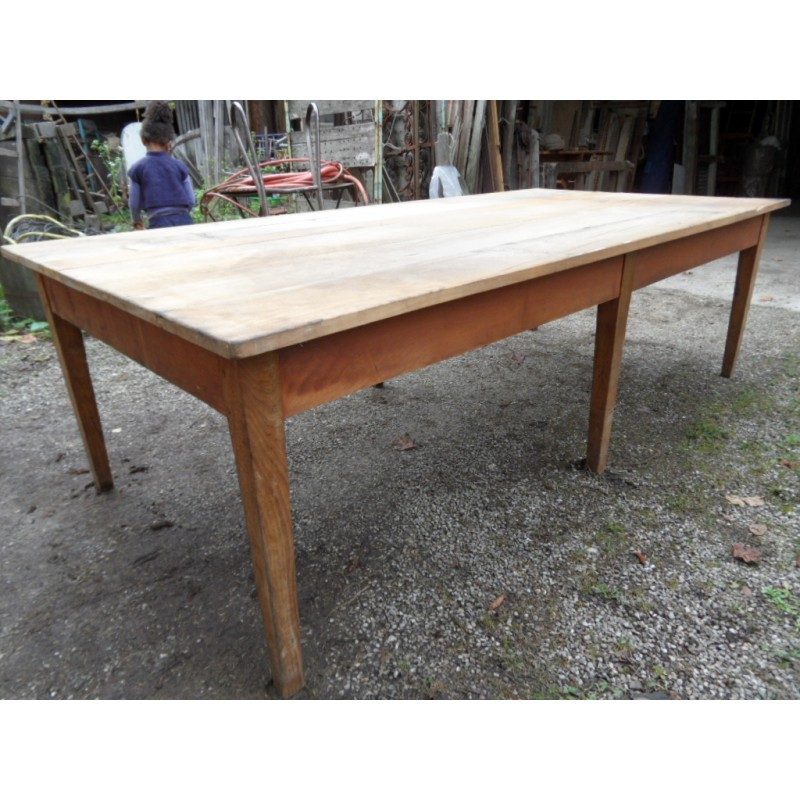 Grande table de réfectoire  Maison Forain -> Grande Table En Bois Occasion